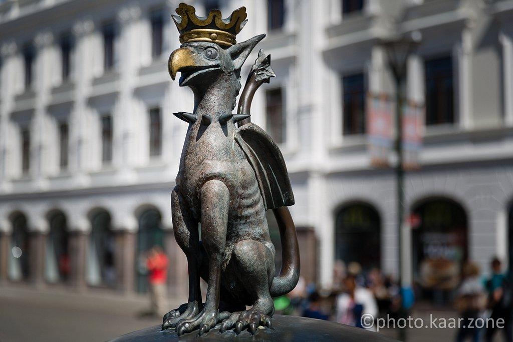 Griffin at Gustav Adolfs torg