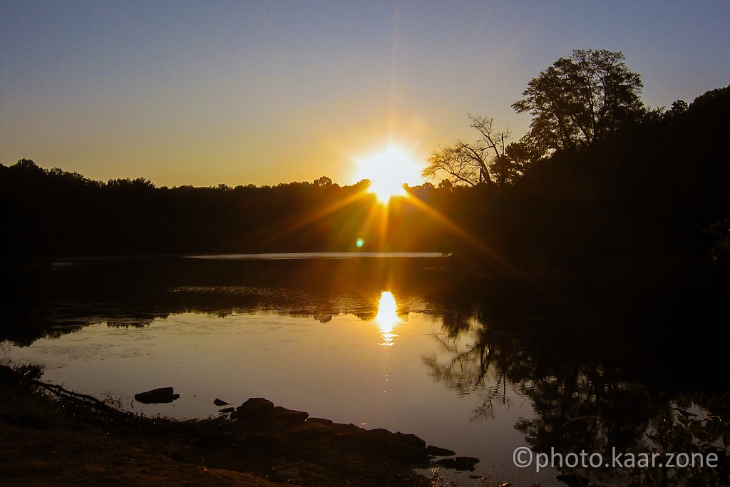 Rising Sun over Candler Lake